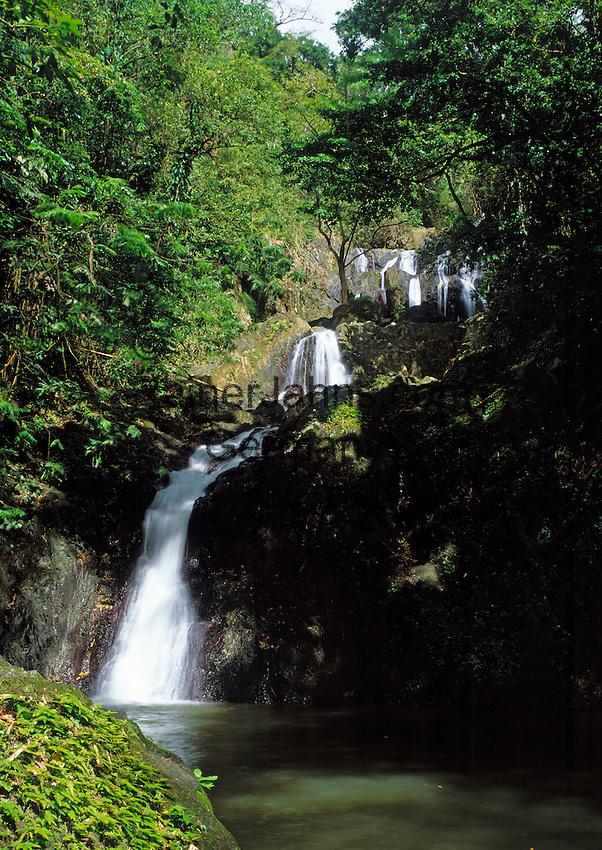 Trinidad & Tobago, Commonwealth, Tobago, Roxborough: Argyle Waterfall