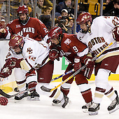Ben Smith (Boston College - Avon, CT), JD McCabe (Harvard University - Jamison, PA), Jimmy Fraser (Harvard University - Port Huron, MI), Andrew Orpik (Boston College - East Amherst, NY) - The Boston College Eagles defeated the Harvard University Crimson 3-1 in the first round of the 2007 Beanpot Tournament on Monday, February 5, 2007, at the TD Banknorth Garden in Boston, Massachusetts.  The first Beanpot Tournament was played in December 1952 with the scheduling moved to the first two Mondays of February in its sixth year.  The tournament is played between Boston College, Boston University, Harvard University and Northeastern University with the first round matchups alternating each year.