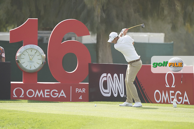 Nicolas Colsaerts (BEL) during the third round of the Omega Dubai Desert Classic, Emirates Golf Club, Dubai, UAE. 26/01/2019<br /> Picture: Golffile | Phil Inglis<br /> <br /> <br /> All photo usage must carry mandatory copyright credit (© Golffile | Phil Inglis)