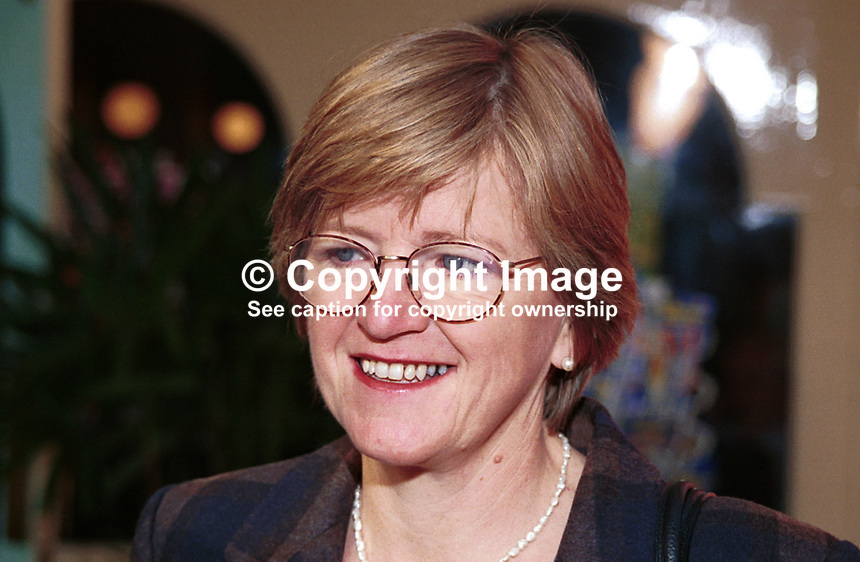 Hilary Armstrong, Labour MP, Britain. Photograph taken at 1996 Labour Party Conference. Ref: 199610070..Copyright Image from Victor Patterson, 54 Dorchester Park, Belfast, UK, BT9 6RJ..Tel: +44 28 9066 1296.Mob: +44 7802 353836.Voicemail +44 20 8816 7153.Skype: victorpattersonbelfast.Email: victorpatterson@mac.com.Email: victorpatterson@ireland.com (back-up)..IMPORTANT: If you wish to use this image or any other of my images please go to www.victorpatterson.com and click on the Terms & Conditions. Then contact me by email or phone with the reference number(s) of the image(s) concerned.