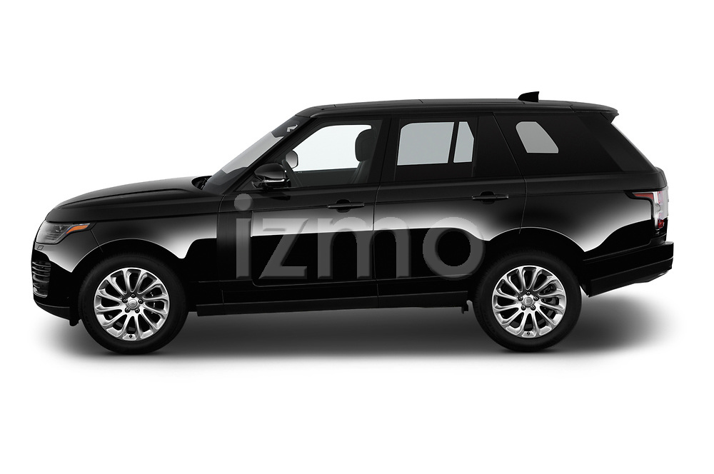 Car driver side profile view of a 2019 Land Rover Range-Rover HSE 5 Door SUV