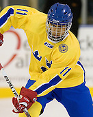 Jeremy Boyce Rotevall (Sweden - 11) - The Merrimack College Warriors defeated the visiting Sweden Under 20 team 4-1 on Tuesday, November 2, 2010, at Lawler Arena in North Andover, Massachusetts.