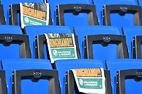 Local media newspapers on stadium seats ahead the Serie A 2018/2019 football match between Frosinone and AC Milan at stadio Benito Stirpe, Frosinone, December, 26, 2018 <br />  Foto Andrea Staccioli / Insidefoto