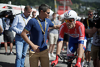 Tom Dumoulin (NLD/Giant-Alpecin) after finishing<br /> <br /> Stage 18 (ITT) - Sallanches &rsaquo; Meg&egrave;ve (17km)<br /> 103rd Tour de France 2016