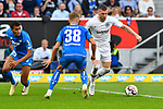 07.10.2018, wirsol Rhein-Neckar-Arena, Sinsheim, GER, 1 FBL, TSG 1899 Hoffenheim vs Eintracht Frankfurt, <br /><br />DFL REGULATIONS PROHIBIT ANY USE OF PHOTOGRAPHS AS IMAGE SEQUENCES AND/OR QUASI-VIDEO.<br /><br />im Bild: Kevin Akpoguma (TSG Hoffenheim #25), Stefan Posch (TSG 1899 Hoffenheim #38), Ante Rebic (Eintracht Frankfurt #4)<br /><br />Foto &copy; nordphoto / Fabisch