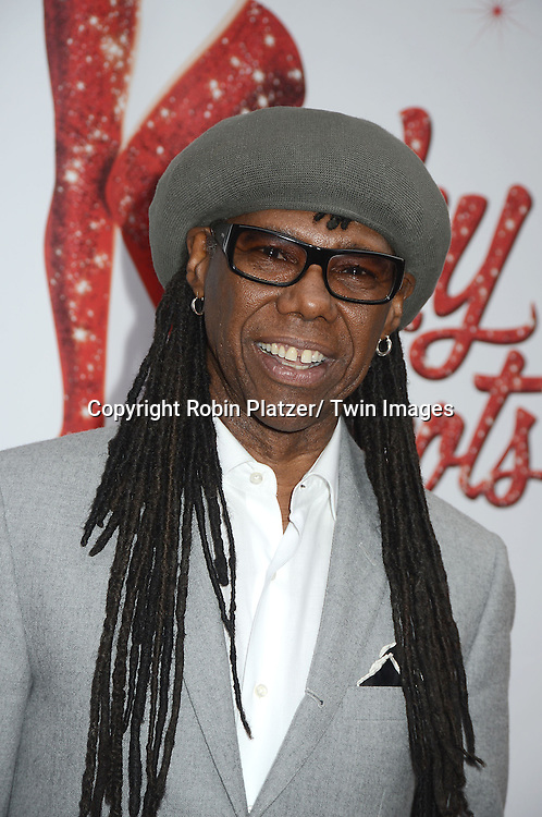 "Nile Rogers arrives at the ""Kinky Boots"" Broadway Opening on April 4, 2013 at The Al Hirschfeld Theatre in New York City. Harvey Fierstein wrote is the Book Writer and Cnydi Lauper is the Composer."