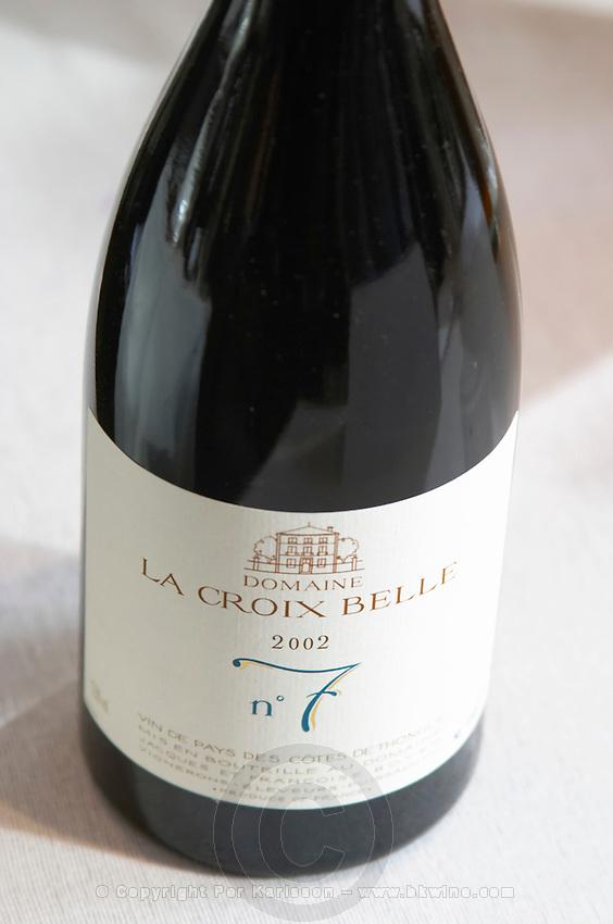 La Croix Belle N:o number 7, 2002. Domaine La Croix Belle. Cotes de Thongue. Languedoc. France. Europe. Bottle.