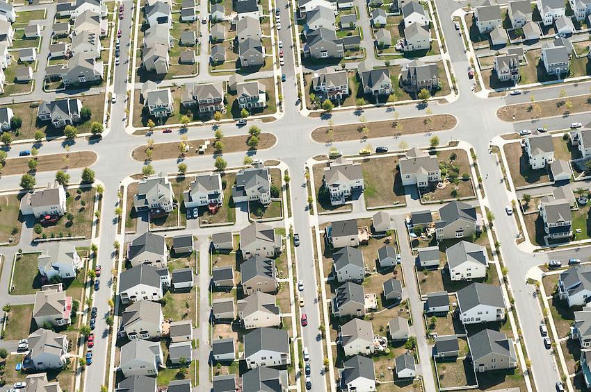 Urban sprawl in rural Shenandoah, Virginia.