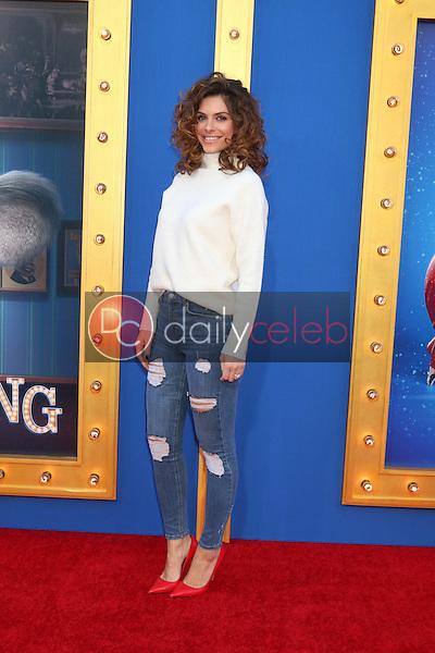 "Maria Menounos<br /> at the ""Sing"" Premiere, Microsoft Theater, Los Angeles, CA 12-03-16<br /> David Edwards/DailyCeleb.com 818-249-4998"