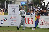 S.S.P. Chawrasia (IND) on the 4th tee during Round 3 of the UBS Hong Kong Open, at Hong Kong golf club, Fanling, Hong Kong. 25/11/2017<br /> Picture: Golffile | Thos Caffrey<br /> <br /> <br /> All photo usage must carry mandatory copyright credit     (© Golffile | Thos Caffrey)