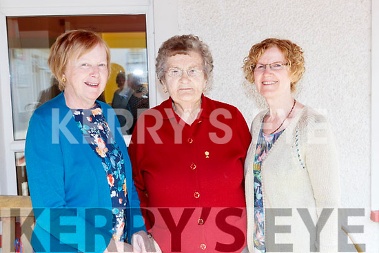 Eileen Murphy, Peggy McCarthy and Marina McCarthy  unvails a plaque in honour of the Castleisland Presentation sisters at the Castleisland Daycare centre on Tuesday
