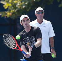 Andy Murray, Ivan Lendl..Tennis - US Open - Grand Slam -  New York 2012 -  Flushing Meadows - New York - USA - Thursday 7th September  2012. .© AMN Images, 30, Cleveland Street, London, W1T 4JD.Tel - +44 20 7907 6387.mfrey@advantagemedianet.com.www.amnimages.photoshelter.com.www.advantagemedianet.com.www.tennishead.net
