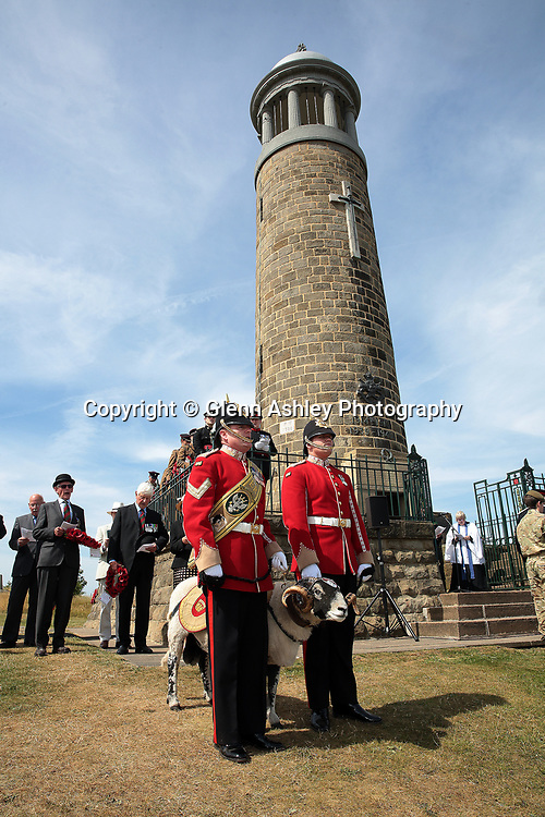 The Regimental Ram at the annual Memorial Pilgrimage at Crich, Derbyshire, United Kingdom, 1st July 2018. Photo by Glenn Ashley.