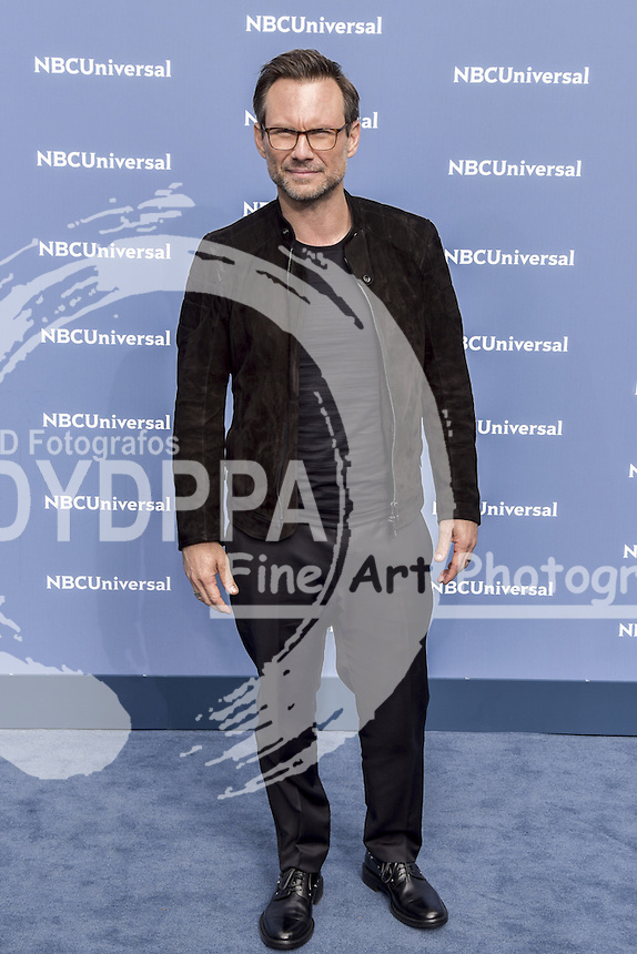 **ALL ROUND PICTURES FROM SOLARPIX.COM**<br /> **SOLARPIX RIGHTS - UK, AUSTRALIA, DENMARK, PORTUGAL, S. AFRICA, SPAIN &amp; DUBAI (U.A.E) &amp; ASIA (EXCLUDING JAPAN) ONLY**<br /> NBCUniversal 2016 Upfront Presentation - Arrivals - Rockefeller Center - New York City, NY, USA <br /> This pic:   Christian Slater<br /> **U.K ONLINE USAGE &pound;25 PER PIC**<br /> JOB REF: 19255 PHZ/Sangiuliano  DATE: 16.05.16<br /> **MUST CREDIT SOLARPIX.COM AS CONDITION OF PUBLICATION**<br /> **CALL US ON: +34 952 811 768**