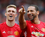 Darren Fletcher and Rio Ferdinand during the Michael Carrick Testimonial match at the Old Trafford Stadium, Manchester. Picture date: June 4th 2017. Picture credit should read: Simon Bellis/Sportimage