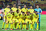 Al-Nassr Hussein Dey players pose for a photo before their match with Al-Ahly at Arab Club championship at Al-Salam Stadium in Cairo, Egypt on July 28, 2017. Photo by Amr Sayed