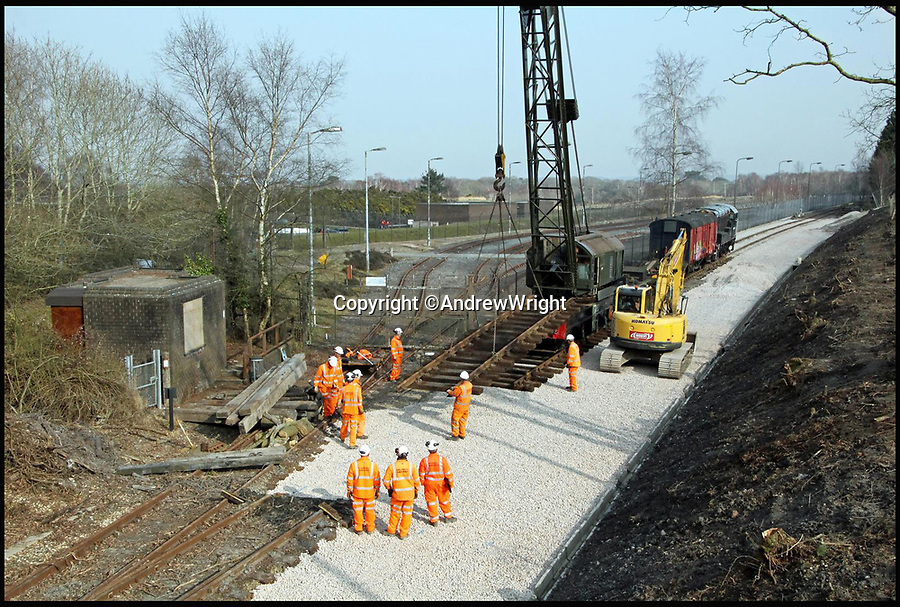 BNPS.co.uk (01202 558833)<br /> Pic: AndrewWright/BNPS<br /> <br /> Furzebrook, Spring 2015.<br /> <br /> A public train service is to run on a railway line ripped up in the 'Beeching Axe' thanks to an army of volunteers who have spent 45 years painstakingly rebuilding it. <br /> <br /> From next month timetabled passenger trains will operate on a daily basis from the mainline down to Swanage in Dorset.<br /> <br /> The Victorian town was effectively cut off from the rail network in 1972 after Dr Richard Beeching, a government railway advisor, recommended it be one of hundreds of loss-making rural lines axed.<br /> <br /> Since then hundreds of people have restored the track which has been upgraded to meet today's safety standards.