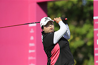 Shanshan Feng (CHN) tees off the 1st tee during Thursday's Round 1 of The Evian Championship 2018, held at the Evian Resort Golf Club, Evian-les-Bains, France. 13th September 2018.<br /> Picture: Eoin Clarke | Golffile<br /> <br /> <br /> All photos usage must carry mandatory copyright credit (&copy; Golffile | Eoin Clarke)