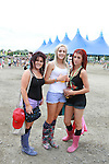 Tasha Ryan, Leanne Dempsey and Alison Courage on Day 2 of the Oxegen Festival, Punchestown, Co.Kildare...(Photo credit should read Jenny Matthews www.newsfile.ie)....This Picture has been sent you under the conditions enclosed by:.Newsfile Ltd..The Studio,.Millmount Abbey,.Drogheda,.Co Meath..Ireland..Tel: +353(0)41-9871240.Fax: +353(0)41-9871260.GSM: +353(0)86-2500958.email: pictures@newsfile.ie.www.newsfile.ie.