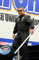 Apr 26, 2008; Talladega, AL, USA; NASCAR Nationwide Series driver Kevin Lepage prior to the Aarons 312 at the Talladega Superspeedway. Mandatory Credit: Mark J. Rebilas-