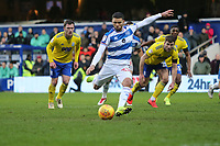 Nahki Wells of QPR misses his penalty to make the score 4-4 during Queens Park Rangers vs Birmingham City, Sky Bet EFL Championship Football at Loftus Road Stadium on 9th February 2019