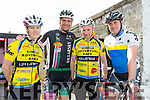Anne marie Healy, Brian Hannafin, Jerry Hayes and Pio Boyle at the Currow Cycling Club and Currow Ladies GAA club fund raising cycle starting at the Community Centre on Sunday