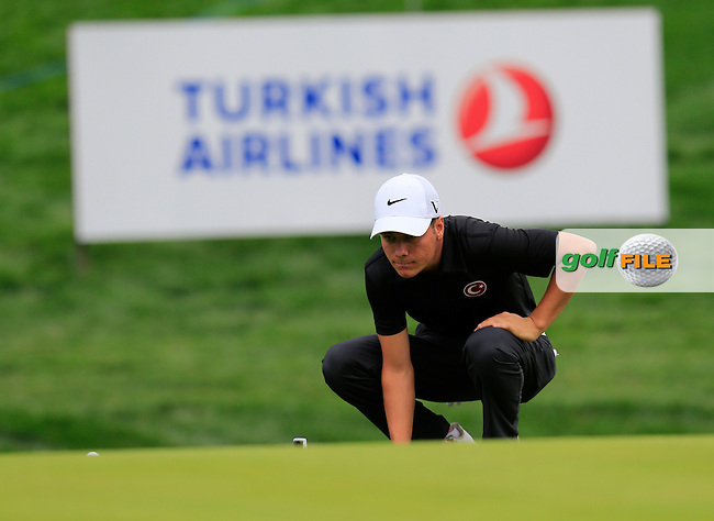 Ali Altuntas ( TUR)  during the weather delayed first round of the Turkish Airlines Open presented by the Ministry of Tourism and Culture, hosted at the The Montgomerie Maxx Royal,Antalya,Turkey.<br /> Picture: Fran Caffrey www.golffile.ie