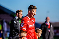 Barnsley's defender Angus MacDonald (5) leads out his team during the Sky Bet Championship match between Barnsley and Leeds United at Oakwell, Barnsley, England on 25 November 2017. Photo by Stephen Buckley / PRiME Media Images.
