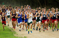 Photography of the Woodlawn School Varsity Boys and Girls Cross Country team running at McAlpine Creek Park in Charlotte, NC.<br />