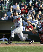 May 30, 2004:  Brant Ust of the Toledo Mudhens during a game at Frontier Field in Rochester, NY.  The Mudhens are the Triple-A International League affiliate of the Detroit Tigers.  Photo By Mike Janes/Four Seam Images