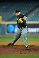 Missouri Tigers relief pitcher Trey Dillard (47) in action against the Texas Longhorns in game eight of the 2020 Shriners Hospitals for Children College Classic at Minute Maid Park on March 1, 2020 in Houston, Texas. The Tigers defeated the Longhorns 9-8. (Brian Westerholt/Four Seam Images)