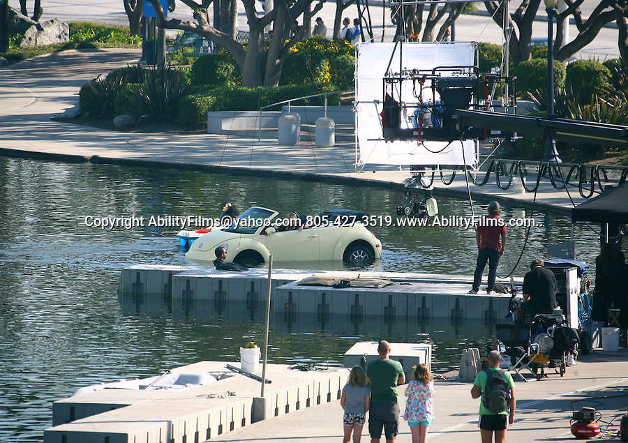 December 10th 2011..Chelsea Handler filming the movie This Means War in Long Beach California.  ...AbilityFilms@yahoo.com.805-427-3519.www.AbilityFilms.com..