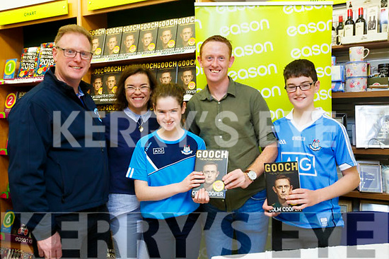 "Colm Cooper signs his new book ""GOOCH"" for Kevin,Catriona Maeve and Luke Kellett at Easons Tralee on Sunday"