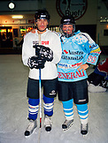 AUSTRIA, Vienna, portrait of hockey players standing together