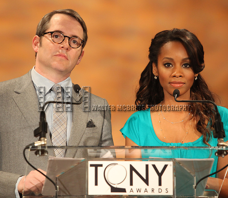 Matthew Broderick & Anika Noni Rose.attending the 2011 Tony Award Nomination Announcements at Lincoln Center in New York City.