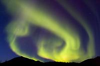 Aurora borealis over the Brooks Range, Arctic, Alaska