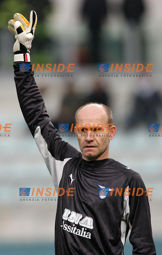 Marco Ballotta (Lazio) il giocatore piu' anziano della storia della Serie A<br /> Italian &quot;Serie A&quot; 2006-07<br /> 18 Feb 2007 (Match Day 24)<br /> Lazio-Torino (2-0)<br /> &quot;Olimpico&quot;-Stadium-Roma-Italy<br /> Photographer: Andrea Staccioli INSIDE