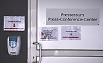 FussballFussball: agnph001:  1. Bundesliga Saison 2019/2020 27. Spieltag 23.05.2020<br />SC Freiburg - SV Werder Bremen<br />Der Zugang zum Pressekonferenz Raum im Schwarzwald Stadion vor dem Spiel.<br />FOTO: Markus Ulmer/Pressefoto Ulmer/ /Pool/gumzmedia/nordphoto<br /><br />Nur fŸr journalistische Zwecke! Only for editorial use! <br />No commercial usage!