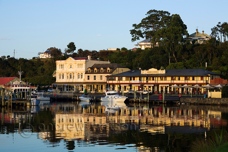 Dawn at Macquarie harbour, Strahan, Tasmania, Australia