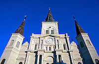 USA, Louisiana, New Orleans.  Saint Louis Cathedral