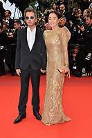 "CANNES, FRANCE. May 17, 2019: Jean-Michel Jarre & Gong Li at the gala premiere for ""Pain and Glory"" at the Festival de Cannes.<br /> Picture: Paul Smith / Featureflash"