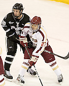 Shane Luke (PC - 20), Quinn Smith (BC - 27) - The Boston College Eagles defeated the Providence College Friars 7-0 on Saturday, February 25, 2012, at Kelley Rink at Conte Forum in Chestnut Hill, Massachusetts.