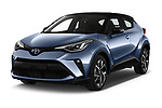 2020 Toyota C-HR Club 5 Door SUV angular front stock photos of front three quarter view