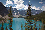 Moraine Lake in the Valley of the Ten Peaks, Banff NP, Alberta, Canada