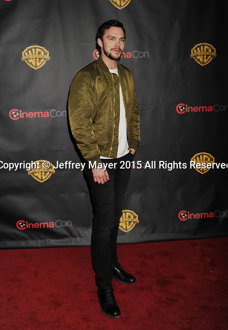 LAS VEGAS, CA - APRIL 21: Actor Nicholas Hoult arrives at Warner Bros. Pictures Invites You to ?The Big Picture at The Colosseum at Caesars Palace during CinemaCon, the official convention of the National Association of Theatre Owners, on April 21, 2015 in Las Vegas, Nevada.