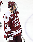 Michael Marcou (UMass - 22) - The Boston College Eagles defeated the visiting University of Massachusetts-Amherst Minutemen 2-1 in the opening game of their 2012 Hockey East quarterfinal matchup on Friday, March 9, 2012, at Kelley Rink at Conte Forum in Chestnut Hill, Massachusetts.