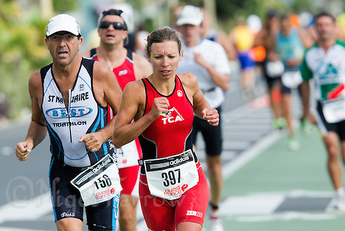 18 SEP 2011 - LA BAULE, FRA - Magali Tavenon - Triathlon Courte Distance (Olympic or standard distance) at the 24th Triathlon Audencia in La Baule, France (PHOTO (C) NIGEL FARROW)
