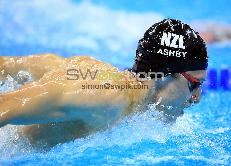 RIO DE JANEIRO, BRAZIL - AUGUST 08:  Bradlee Ashby of New Zealand competes in the Men's 200m Butterfly Heats on Day 3 of the Rio 2016 Olympic Games at the Olympic Aquatics Stadium on August 8, 2016 in Rio de Janerio, Brazil.  (Photo by Vaughn Ridley/SWpix.com)