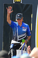 Jul 24, 2016; Morrison, CO, USA; NHRA top fuel driver Bill Litton during the Mile High Nationals at Bandimere Speedway. Mandatory Credit: Mark J. Rebilas-USA TODAY Sports