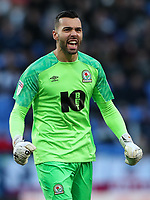 Blackburn Rovers' David Raya celebrates his side's first goal<br /> <br /> Photographer Andrew Kearns/CameraSport<br /> <br /> The EFL Sky Bet Championship - Bolton Wanderers v Blackburn Rovers - Saturday 6th October 2018 - University of Bolton Stadium - Bolton<br /> <br /> World Copyright &copy; 2018 CameraSport. All rights reserved. 43 Linden Ave. Countesthorpe. Leicester. England. LE8 5PG - Tel: +44 (0) 116 277 4147 - admin@camerasport.com - www.camerasport.com